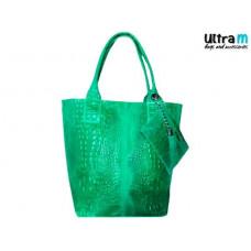 Kožna ženska torba Roberto Nazzaro 002 zelena
