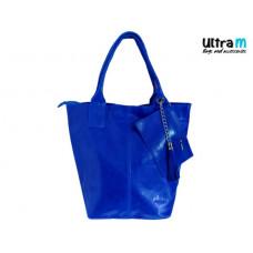 Kožna ženska torba Roberto Nazzaro 001 indigo plava