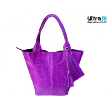 Kožna ženska torba Roberto Nazzaro 001 ljubičasta