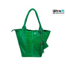 Kožna ženska torba Roberto Nazzaro 001 zelena