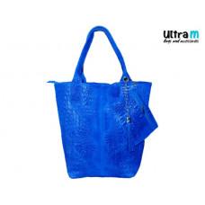 Kožna ženska torba Roberto Nazzaro 002 indigo plava