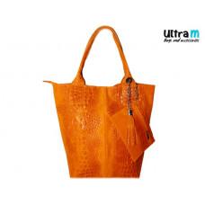 Kožna ženska torba Roberto Nazzaro 002 narandžasta
